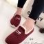 รองเท้าผ้าใบผู้หญิง บุขน ใส่หน้าหนาว (สีแดง ) thumbnail 1