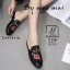 รองเท้าส้นแบนเปิดส้นสีดำ style แบรนด์ Gucci (สีดำ ) thumbnail 5
