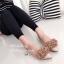 รองเท้าคัทชูส้นสูง เสริมหน้า หนังแก้ว (สีเทา ) thumbnail 3