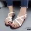 รองเท้าแตะรัดส้นสีขาว Style Christian Dior (สีขาว ) thumbnail 5