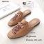 รองเท้าส้นแบนสีน้ำตาล ทรงสลิปเปอร์ Style Gucci (สีน้ำตาล ) thumbnail 1