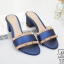 รองเท้าส้นตันเปิดส้นสีน้ำเงิน style แบรนด์ valentino (สีน้ำเงิน ) thumbnail 1