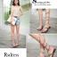 รองเท้าแตะพันข้อสีเงิน ลายงูประดับเพชร สไตล์ gladiater (ทอง ) thumbnail 4