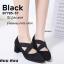 รองเท้าคัทชู ส้นตัน หัวแหลม หนังกลับ (สีดำ ) thumbnail 2