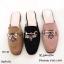รองเท้าส้นเตี้ยเปิดส้นสีชมพู ทรงสลิปเปอร์ Style Gucci (สีชมพู ) thumbnail 5