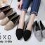 รองเท้าคัทชูส้นแบน หัวแหลม เย็บหนังซ้อน สไตล์Zara (สีเทา ) thumbnail 4