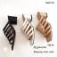 รองเท้าส้นตันสีครีม แบบสวม ดีไซน์งานเส้น (สีครีม ) thumbnail 4