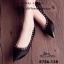รองเท้าคัทชูหัวแหลม สไตล์Valentino ผ้าขน แต่งอะไหล่สีทอง (สีดำ ) thumbnail 2