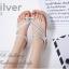 รองเท้าแตะ ส้นแบน รัดส้น แต่งอะไหล่เพชรฟรุ้งฟริ้ง (สีเงิน) thumbnail 3