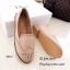 รองเท้าคัทชูสีชมพู สไตล์วินเทจ นังนิ่มดีเทลฉลุลาย (สีชมพู ) thumbnail 5