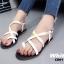 รองเท้าแตะรัดส้นสีขาว Style Christian Dior (สีขาว ) thumbnail 4
