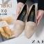 รองเท้าคัทชูส้นแบน หัวแหลม เย็บหนังซ้อน สไตล์Zara (สีกากี ) thumbnail 5