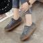 รองเท้าผ้าใบผู้หญิง สไตล์วินเทจ (สีเทา ) thumbnail 6