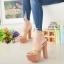 รองเท้าส้นสูงเปิดส้นสีแทน Muless Heels Shoes (สีแทน ) thumbnail 2
