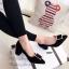 รองเท้าคัทชู ส้นสูง หัวแหลม ทรงสุภาพ (สีดำ ) thumbnail 3