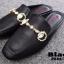 รองเท้าส้นแบนเปิดส้นสีดำ สไตล์แบรนด์ GUCCI (สีดำ ) thumbnail 2