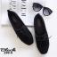 รองเท้าคัทชูส้นเตี้ย แบบผูกเชือก สักหราดนิ่ม ดูดีมีสไตล์ (สีดำ ) thumbnail 7