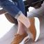 รองเท้าผ้าใบเสริมส้น เพื่อสุขภาพ แนววินเทจ (สีน้ำตาล ) thumbnail 1