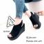 รองเท้าส้นเตารีดรัดส้นสีดำ แบบสวม เปิดหน้าเท้า (สีดำ ) thumbnail 2