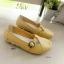 รองเท้าคัทชู สไตล์Loafer หนังนิ้ม สไตล์สุขภาพ (สีเหลือง ) thumbnail 3