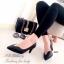 รองเท้าคัทชูหัวแหลมสีดำ Style LV (สีดำ ) thumbnail 2