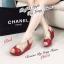 รองเท้าส้นเตารีด รัดส้น สายคาดไขว้ (สีแดง ) thumbnail 3
