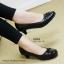 รองเท้าคัทชูส้นเตี้ย สไตล์เรียบหรู (สีดำ ) thumbnail 9