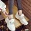 รองเท้าผ้าใบแฟชั่นสีขาว แต่งเพชร สไตล์เกาหลี (สีขาว ) thumbnail 7