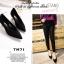 รองเท้าคัทชูหัวแหลม ส้นกลม หน้าวี (สีดำ ) thumbnail 3