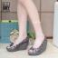 รองเท้าส้นเตารีดสีเทา สไตล์ BAOBAO ทรงสวย TopHit (สีเทา )