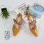 รองเท้าคัทชูส้นสูงสีเหลือง หัวแหลม เว้าข้าง (สีเหลือง ) thumbnail 3