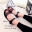 รองเท้าแตะ ลำลอง รัดข้อเท้า สายรัดเมจิกเทป (สีดำ ) thumbnail 4