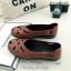 รองเท้าคัทชู แนววินเทจ หน้าไขว้ (สีแทน ) thumbnail 3