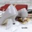 รองเท้าคัทชู ส้นสูง หัวแหลม ซับในกำมะหยี่นิ่ม (สีเทา ) thumbnail 2