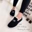 รองเท้าผ้าใบผู้หญิง บุขน ใส่หน้าหนาว (สีดำ ) thumbnail 3