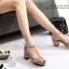 รองเท้าส้นตันรัดข้อสีครีม T-Strap สไตล์ VALENTINO (สีครีม ) thumbnail 5
