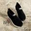 รองเท้าผ้าใบเสริมส้นสีดำ ทรงสวม แบบไม่ต้องผูกเชือก (สีดำ ) thumbnail 3