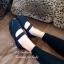รองเท้าคัทชู สไตล์ลำลอง สายคาดยางยืด ใส่กระชับเท้า (สีดำ ) thumbnail 3