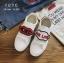 รองเท้าผ้าใบแฟชั่นสีขาว ทีเชือกร้อย แกะเข้าออกได้ เก๋มาก (สีขาว ) thumbnail 7