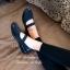 รองเท้าคัทชู สไตล์ลำลอง สายคาดยางยืด ใส่กระชับเท้า (สีดำ ) thumbnail 2