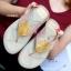 รองเท้าแตะเพื่อสุขภาพ หูหนีบ เปิดส้น แต่งคริสตัล (สีครีม ) thumbnail 2