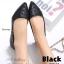 รองเท้าคัทชูส้นแบน หัวแหลม หนังพียูนิ่ม ลายBaoBao (สีดำ ) thumbnail 3