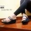 รองเท้าส้นเตารีดเปิดส้นสีเทา สไตล์ baobao พื้นสปองค์ (สีเทา ) thumbnail 2