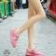 รองเท้าผ้าใบเสริมส้นสีชมพู ผ้าตาข่าย น้ำหนักเบา (สีชมพู ) thumbnail 1