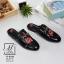 รองเท้าส้นแบนเปิดส้นสีดำ style แบรนด์ Gucci (สีดำ ) thumbnail 3