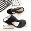 รองเท้าส้นเตารีดสีดำ แบบคีบ สไตล์ลำลอง (สีดำ ) thumbnail 2