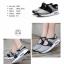 รองเท้าผ้าใบเสริมส้นสีเทา ผ้ายืดและผ้าตาข่าย สายรัดเมจิกเทป (สีเทา ) thumbnail 3