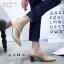 รองเท้าคัทชูส้นตันสีครีม หัวแหลม สไตล์ ZARA (สีครีม ) thumbnail 5