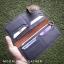 กระเป๋าสตางค์หนังแท้ 100% หนังวัว หนังออยนูบัค แฮนด์เมด ใบยาว สีน้ำตาลเข้ม ดิบ เถื่อน เท่สุดไม่ซ้ำใคร งานไทย ทนทาน ลดราคา พร้อมกล่อง thumbnail 3