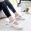 รองเท้าคัทชู พยาบาล น่ารัก สายรัดเมจิกเทป (สีขาว ) thumbnail 5